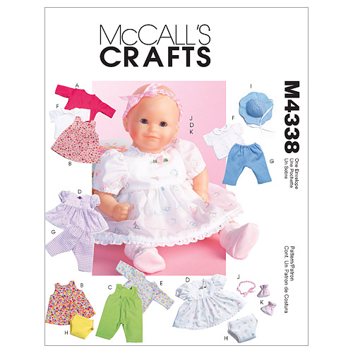 McCall\u0027s Crafts Doll Clothes-M4338