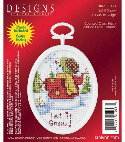 Janlynn Counted Cross Stitch Kit Let It Snow Mini