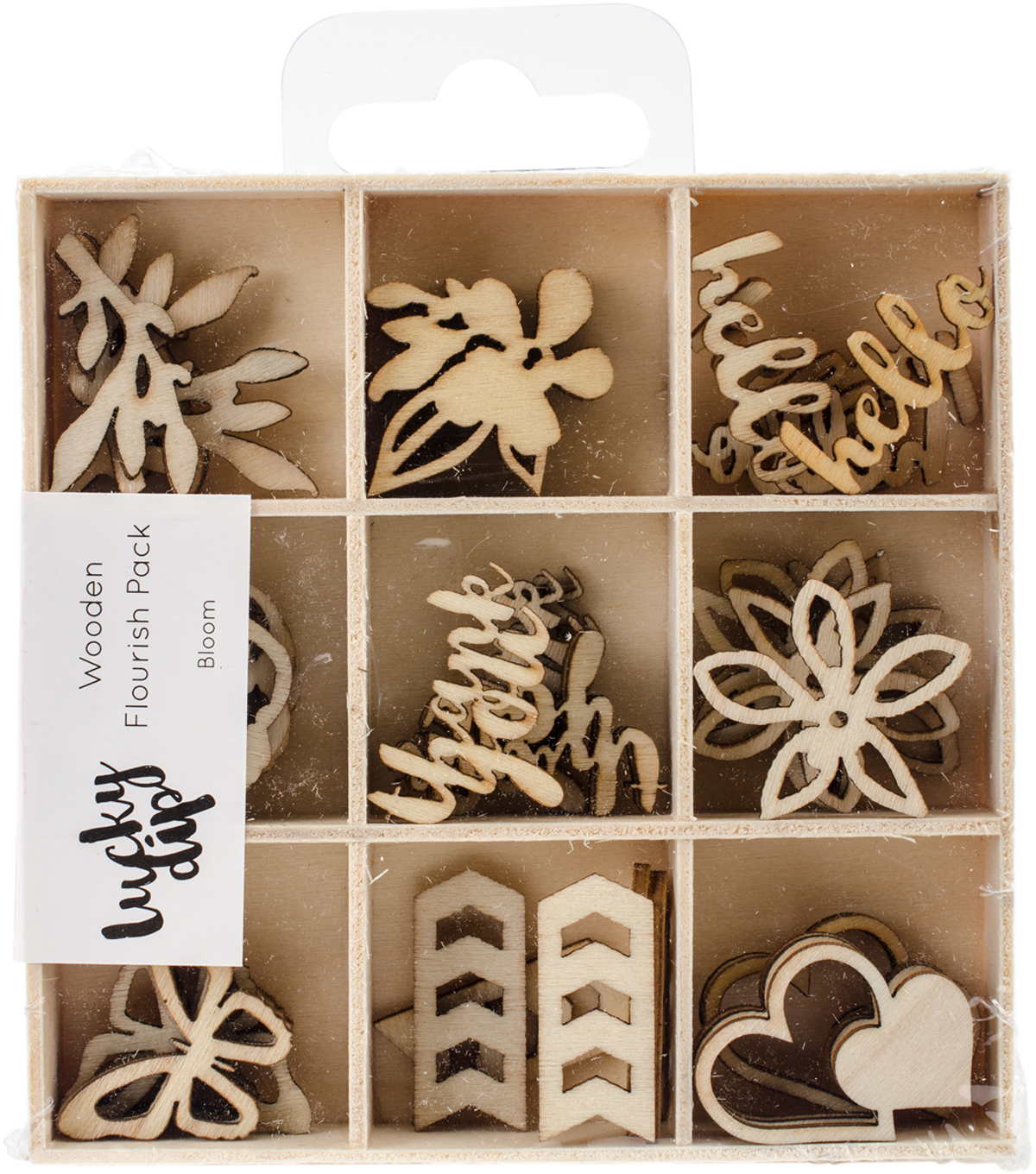 Themed Mini Wooden Flourishes-Bloom
