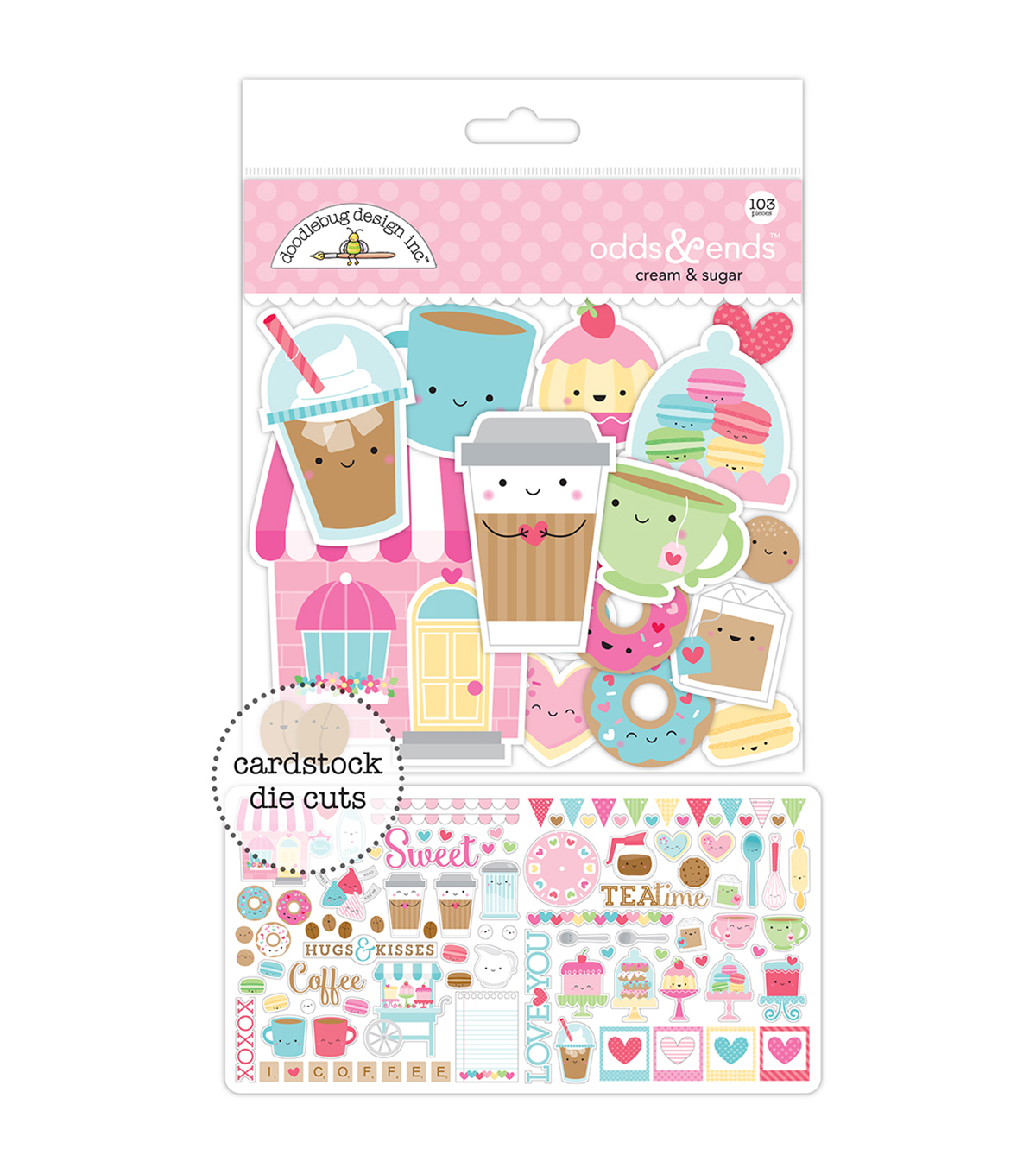 Doodlebug Odds & Ends Die-Cuts-Cream & Sugar