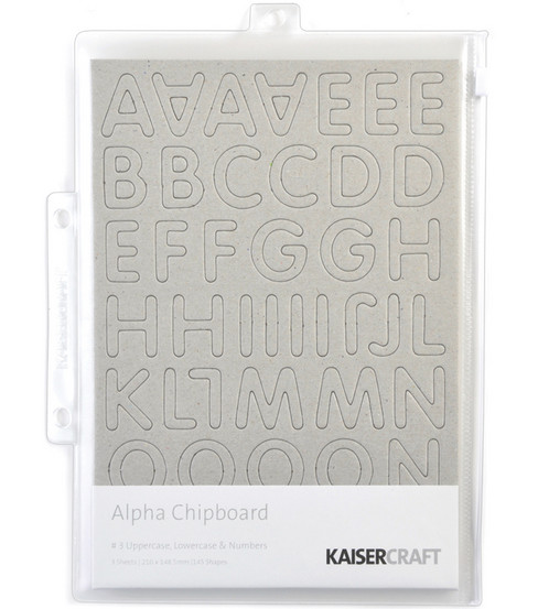 Kaisercraft Chipboard Embellishments-145PK/Alphas