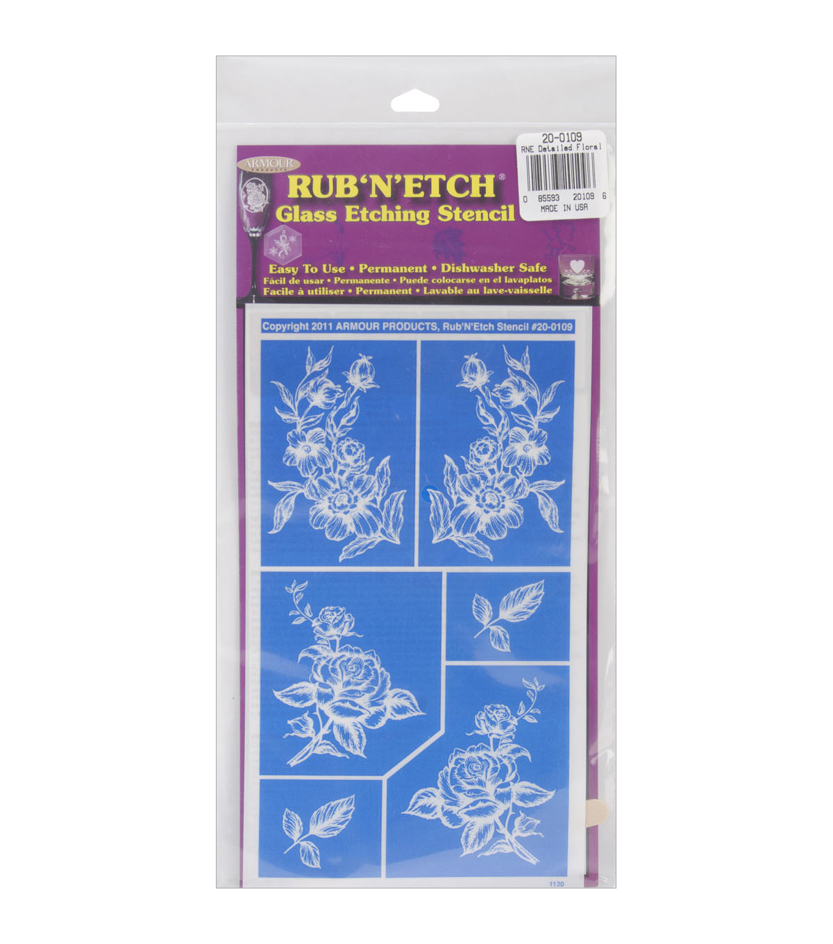 Rub \u0027n Etch Glass Etching Stencils-Group #4