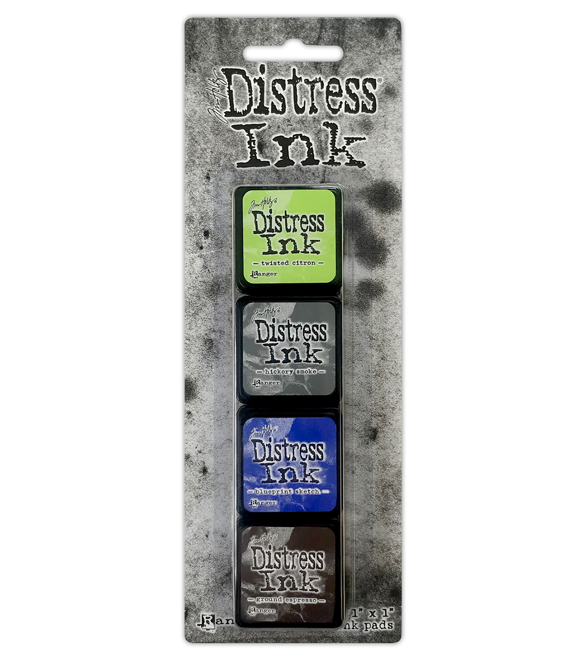 Tim Holtz Distress Mini Ink Pads 4/Pkg-Kit 14