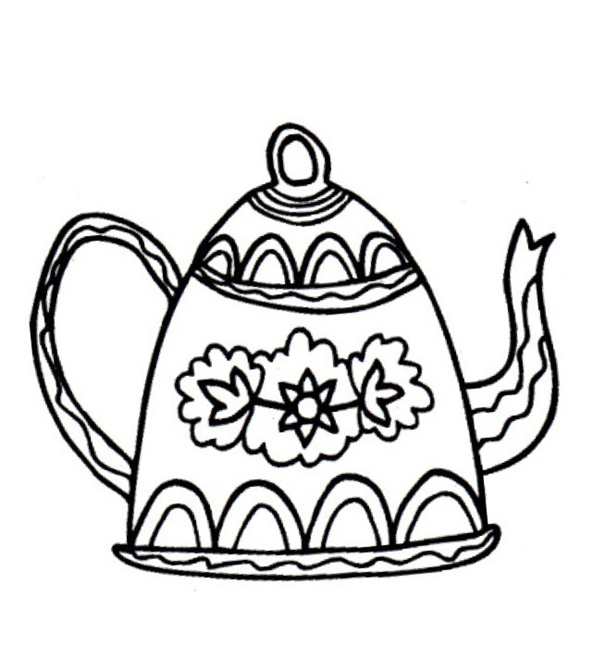Gourmet Rubber Stamps Coffee Pot Cling Stamps