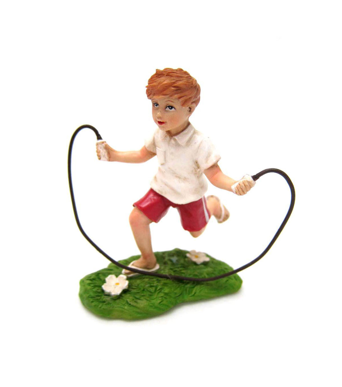 Bloom Room Littles Resin Boy Jumping Rope