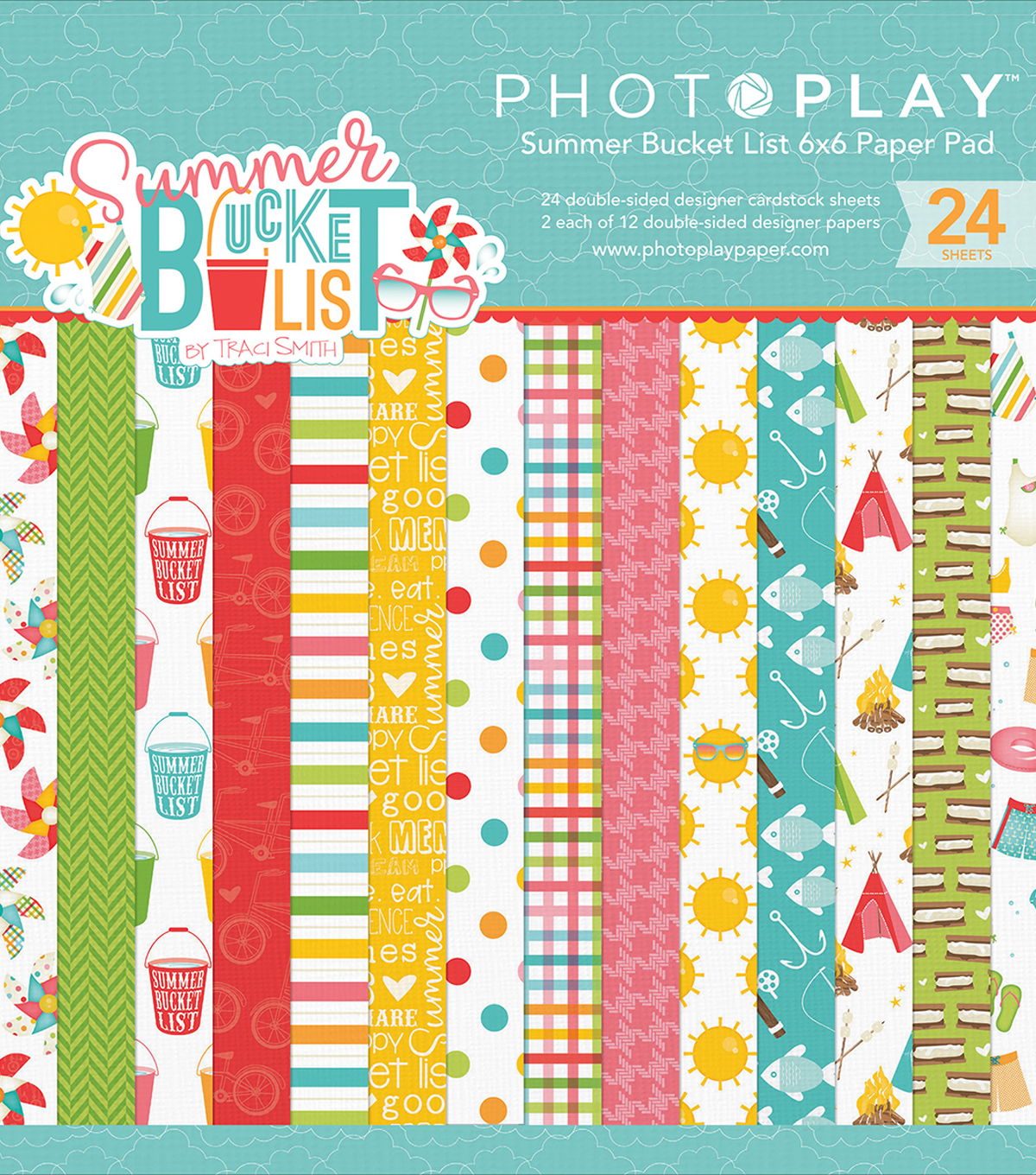 "Photo Play Double-Sided Paper Pad 6""X6""-Summer Bucket List"