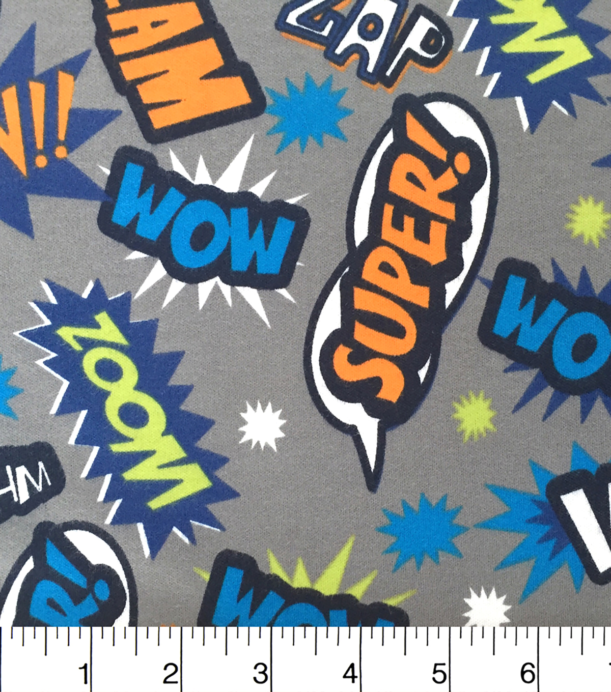 Doodles Juvenile Apparel Fabric-Pow Interlock