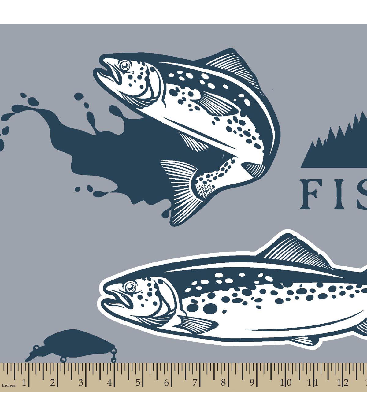 "Anti-Pill Fleece Fabric 59""-Fishing"