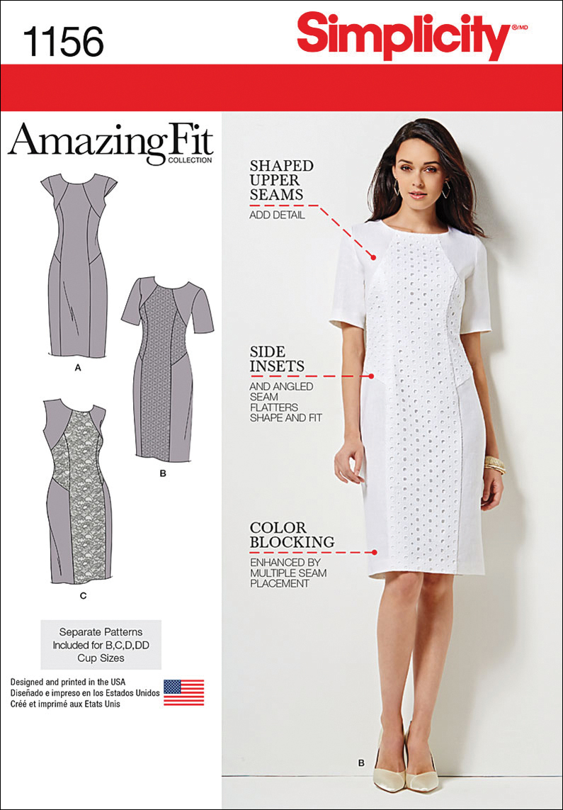 Simplicity Pattern 1156AA 10-12-14-1-Dresses