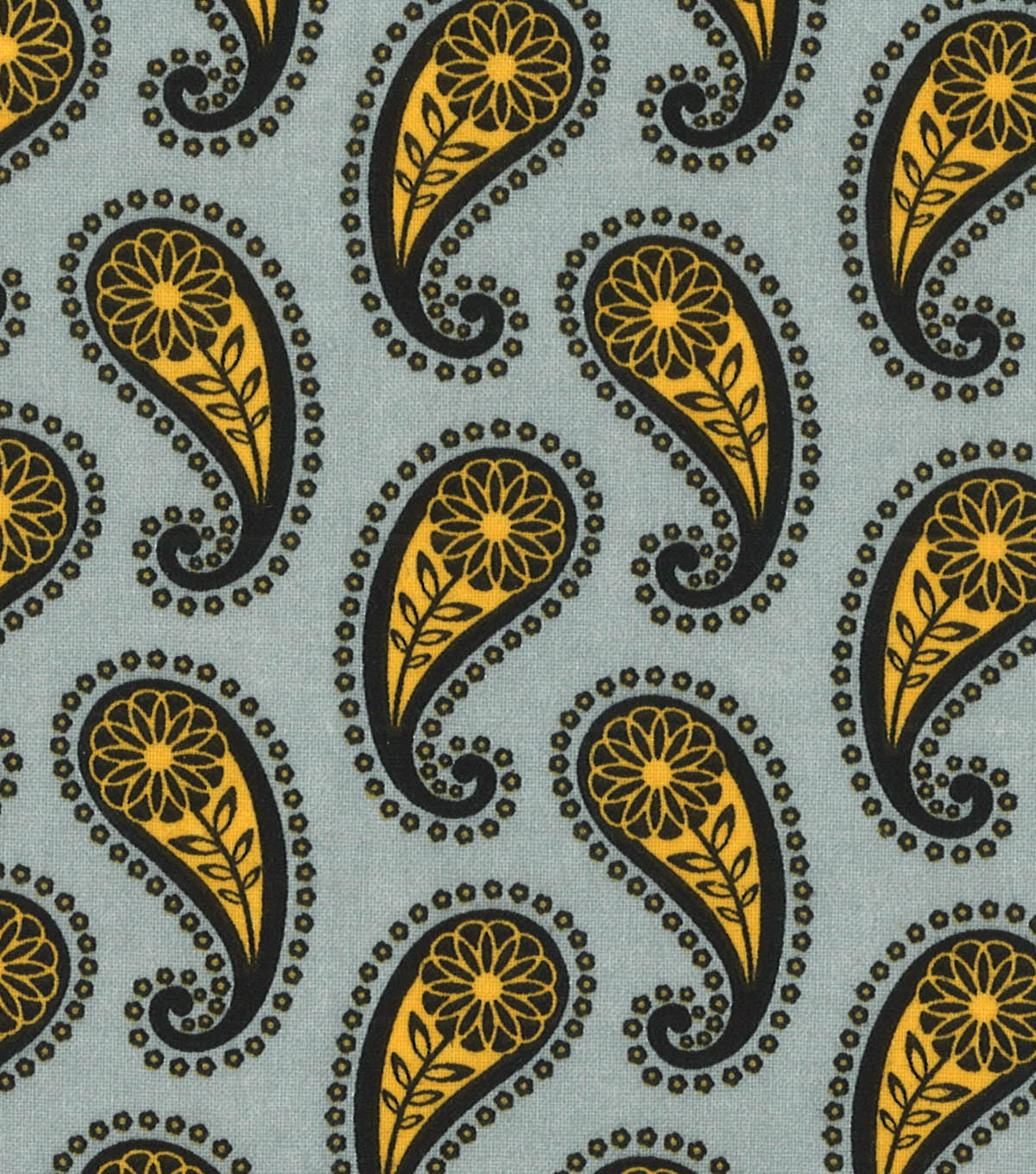 Quilter's Showcase™ Fabric 44''-Amber Yellow & Black Paisley