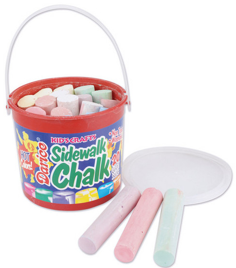 Darice Bucket Of Sidewalk Chalk-20PK