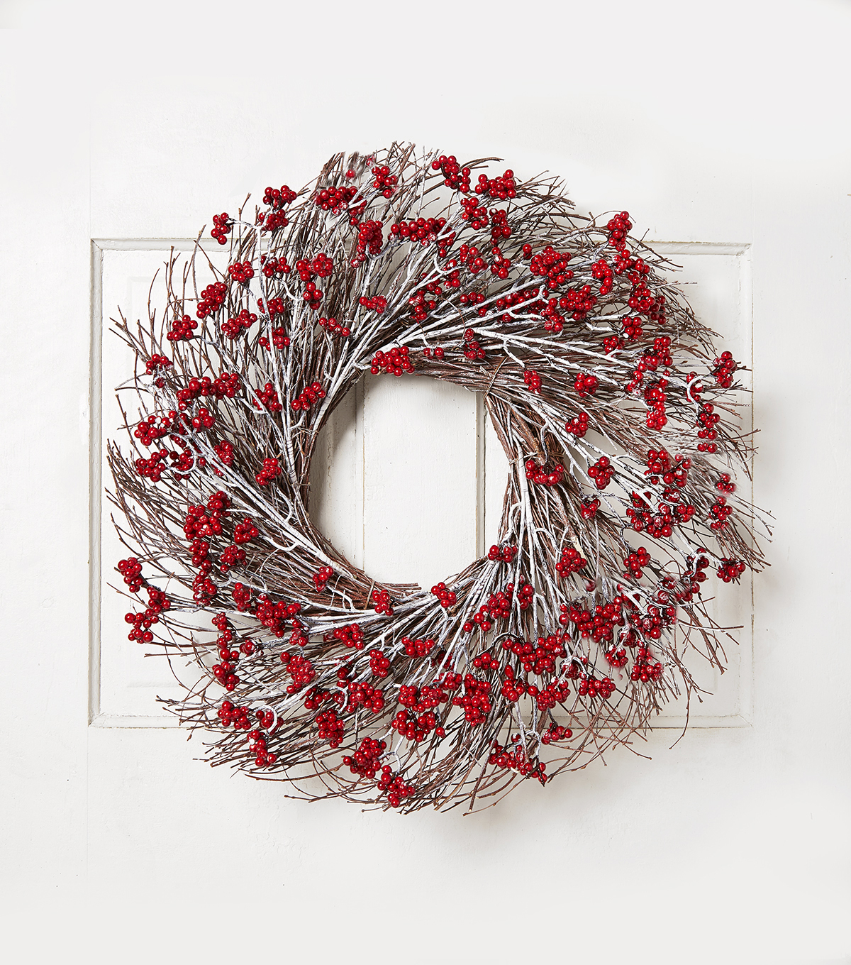 Blooming Holiday 24\u0027\u0027 Cluster Berry on Grapevine Wreath