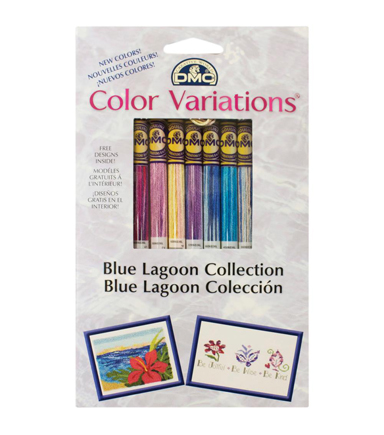 DMC Color Variations Floss Pack- Blue Lagoon 8/Pkg