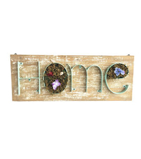 In The Garden Wood With Moss Wall Decor-Home