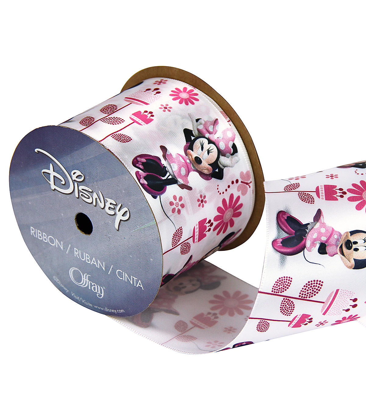 Disney Minnie Full Body 2 And 1 Qtr In Ribbon