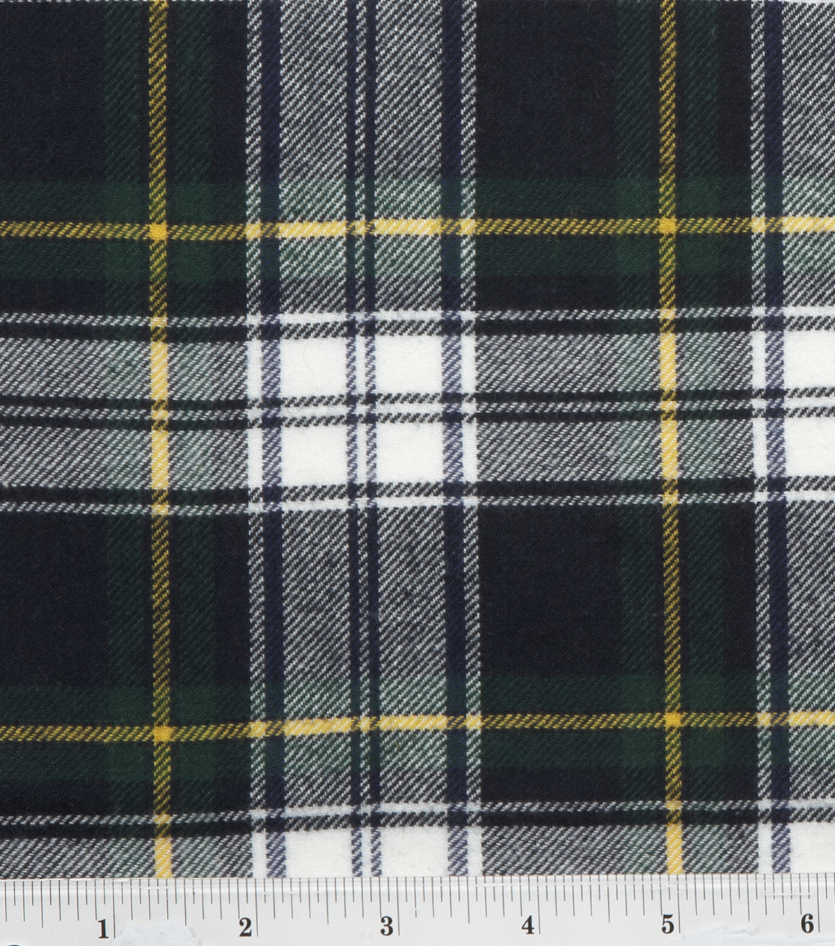 Fashion Flannel Shirting Fabric 41\u0022-Navy and Green