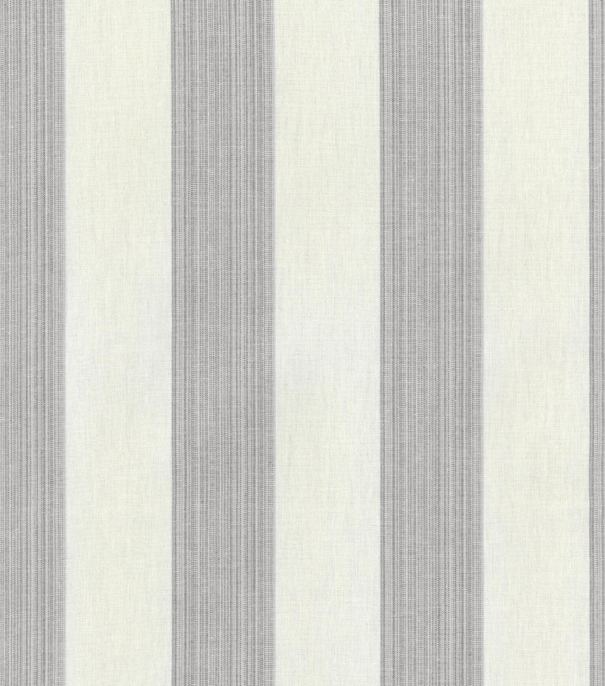 Home Decor 8\u0022x8\u0022 Swatch Fabric-Williamsburg Stratford Stripe Smoke
