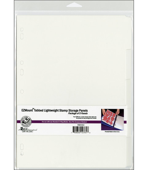 EZMount Tabbed Lightweight Stamp Storage Panels 5/Pkg-8.25\u0022X11.75\u0022