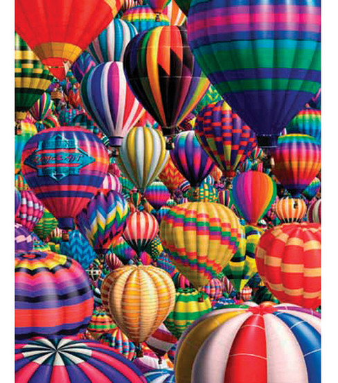 White Mountain Puzzles Jigsaw Puzzle Hot Air Balloons