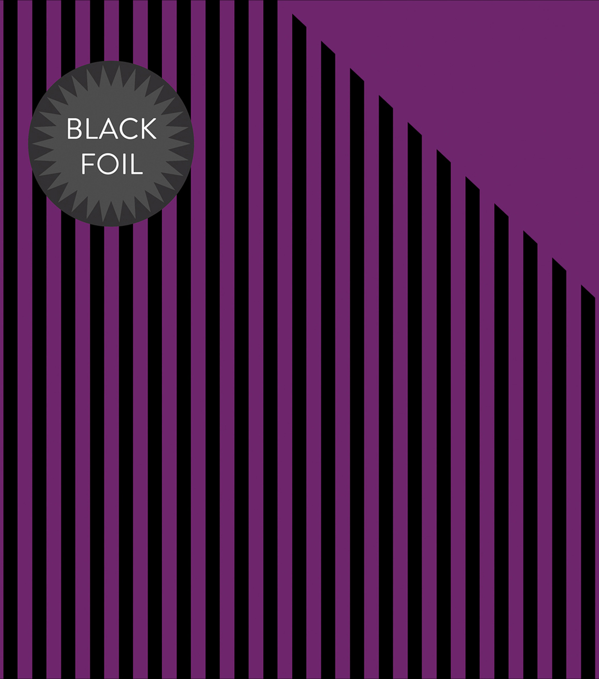 Double-Sided Foiled Dot & Stripe Cardstock 12\u0022X12\u0022-Purple & Black