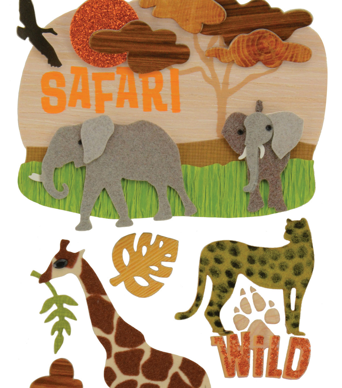 Jolee\u0027s Boutique Dimensional Stickers Safari