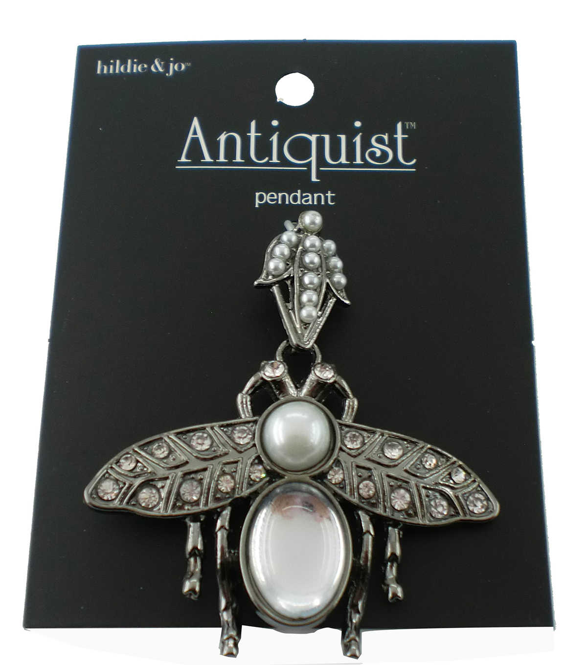 hildie & jo™ Antiquist Large Bug Antique Silver Pendant