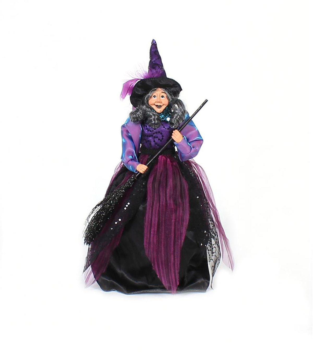 Maker\u0027s Halloween Polyester & Plastic Standing Witch with Hanger