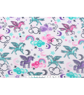 Anti-Pill Fleece Fabric 59\u0022-Unicorns And Rainbows
