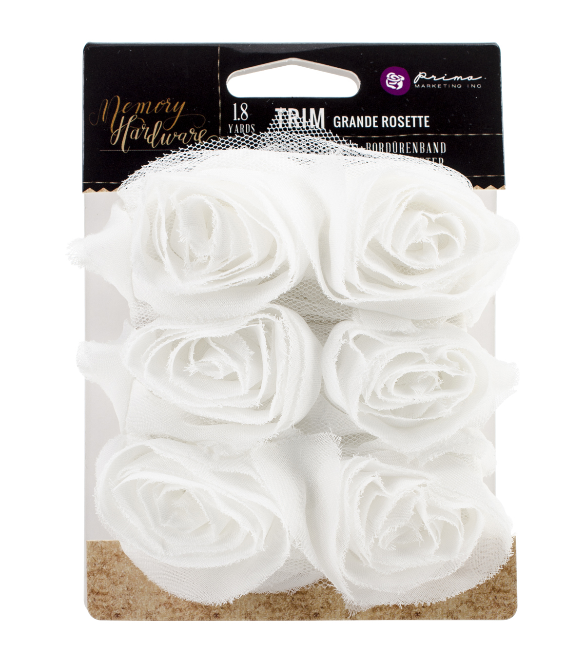 Prima Marketing Memory Hardware Grande Flower Rosette Trim