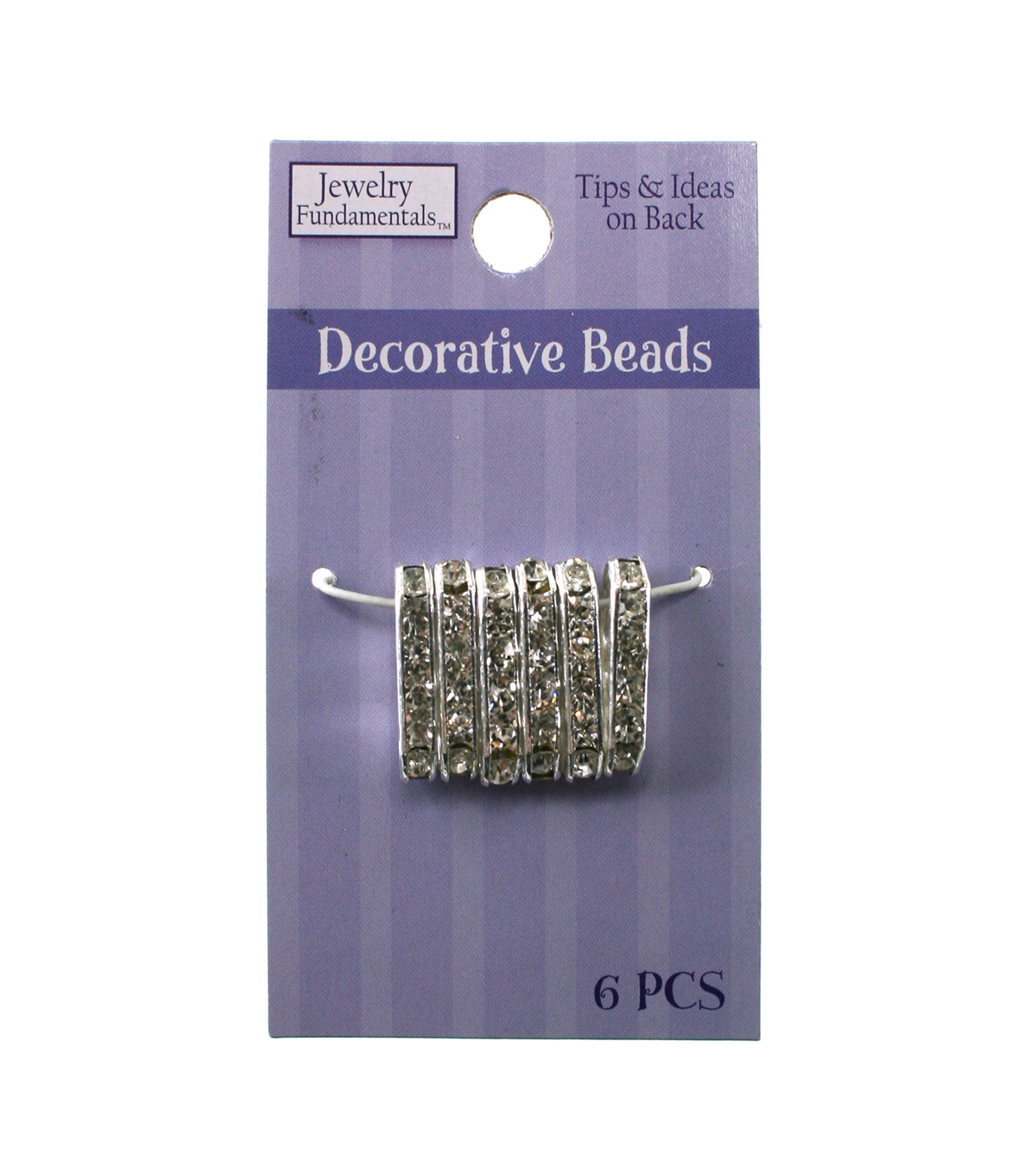 Jewelry Fundamentals Decorative Beads - Lg. Oblong - Silver Finish