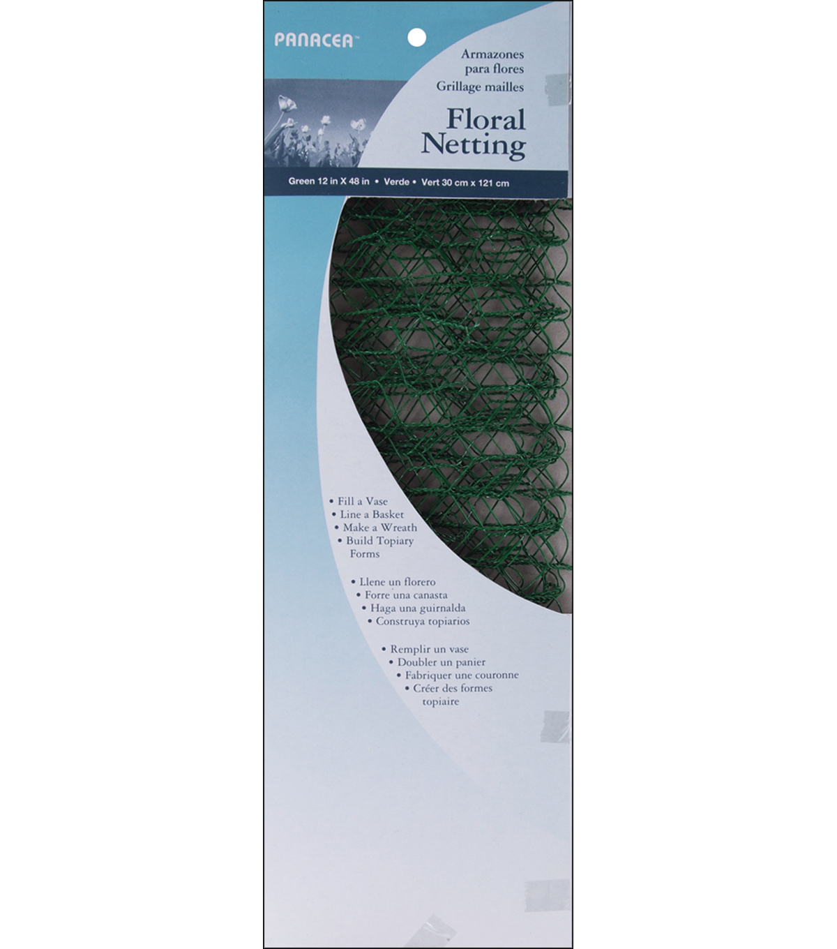 Panacea Products Green Floral Netting