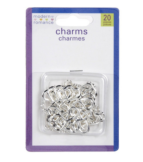 20ct Metal Double Heart Charms