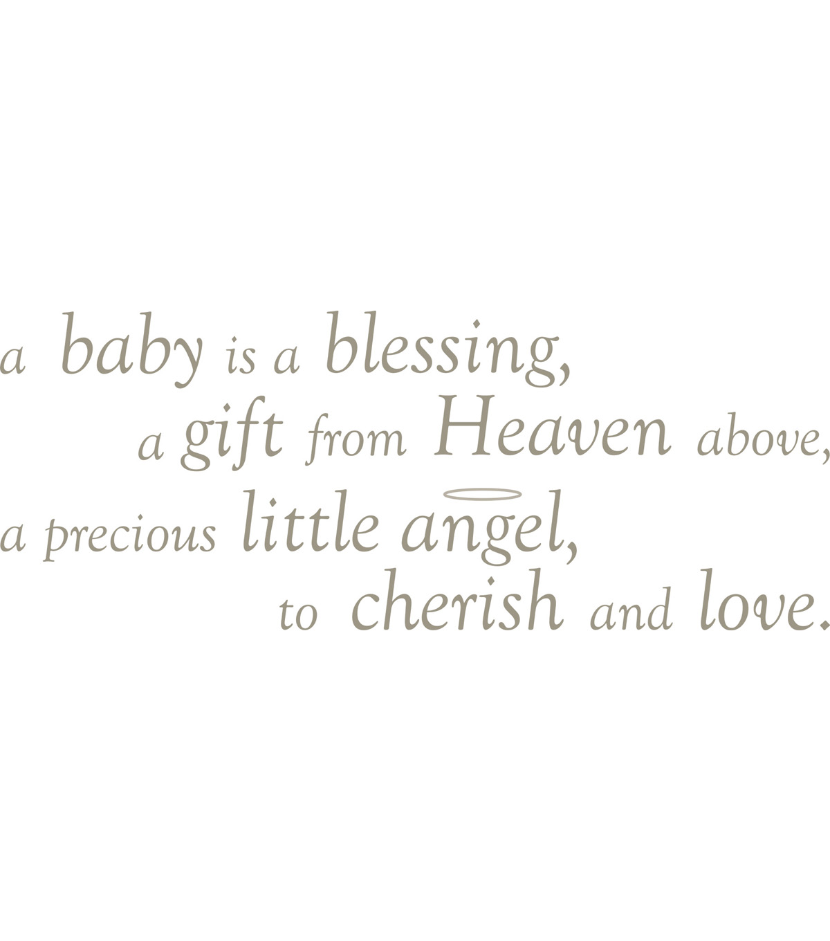 Wall Pops Baby is a Blessing Wall Phrase Decals, 44.75\u0022 x 18.25\u0022