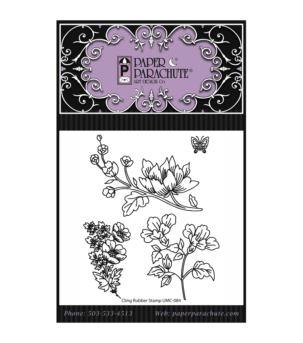 Paper Parachute Cling Rubber Stamps-Set 84