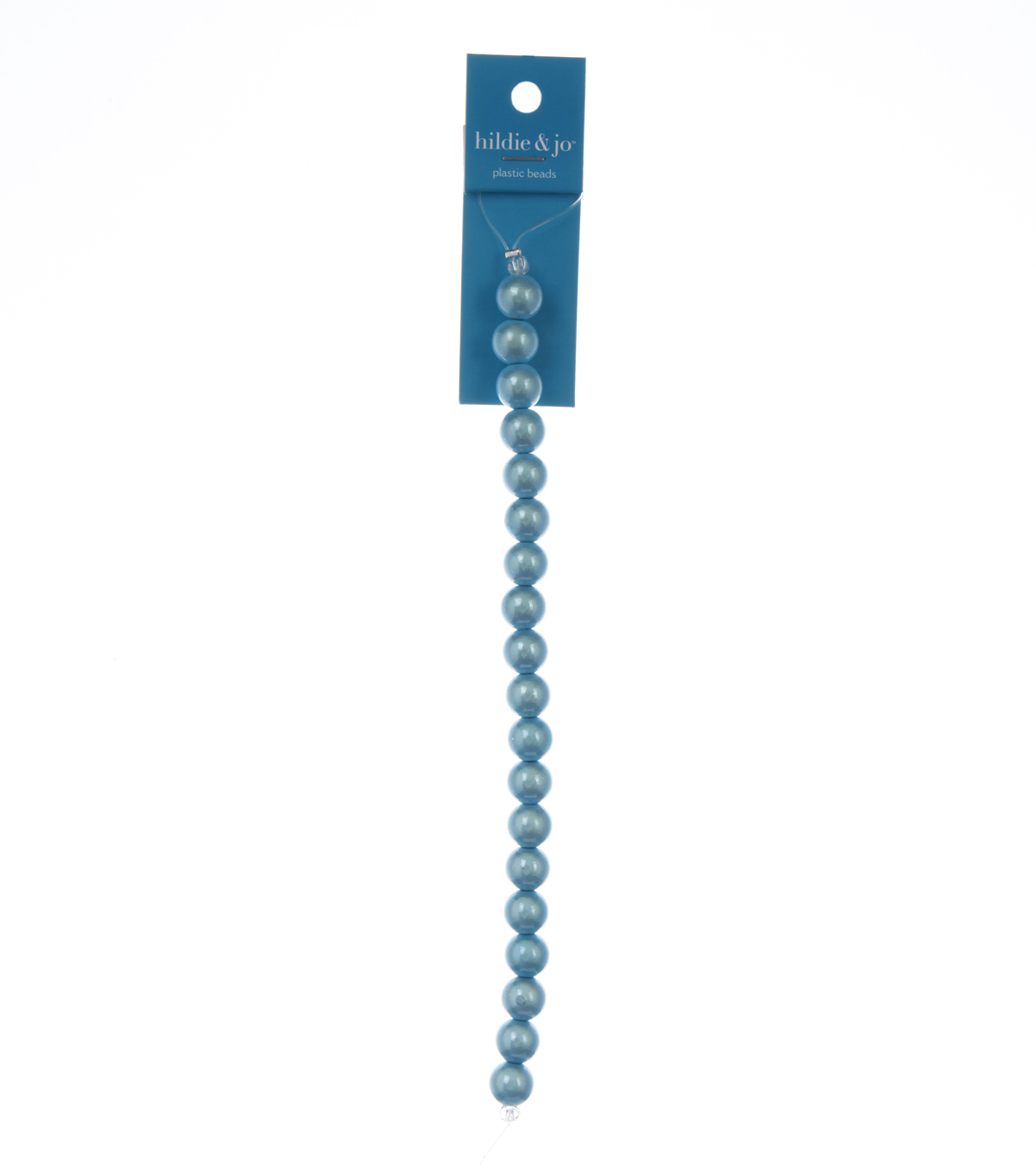 Blue Moon Beads Strand 7\u0022 Plastic Round Miracle Beads, Light Blue