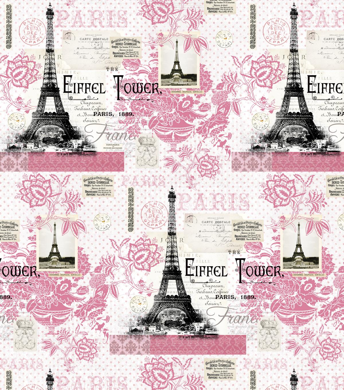 double face quilt fabric paris pink joann