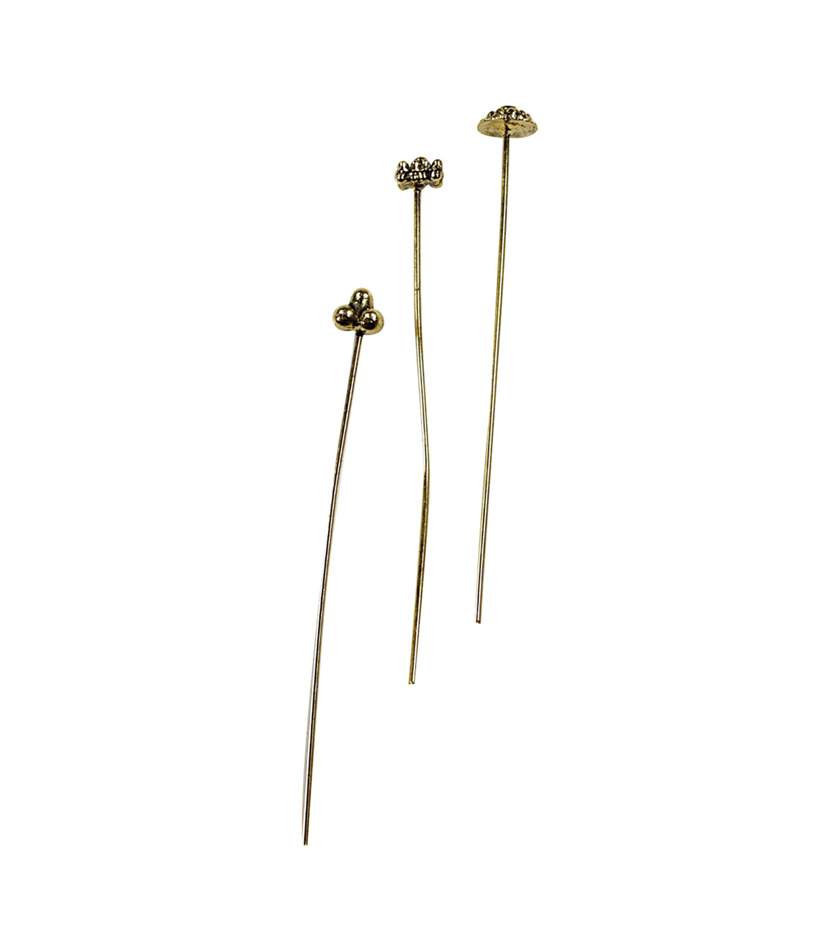 Blue Moon Findings Headpin Metal Multi Pack Deco Antique Gold