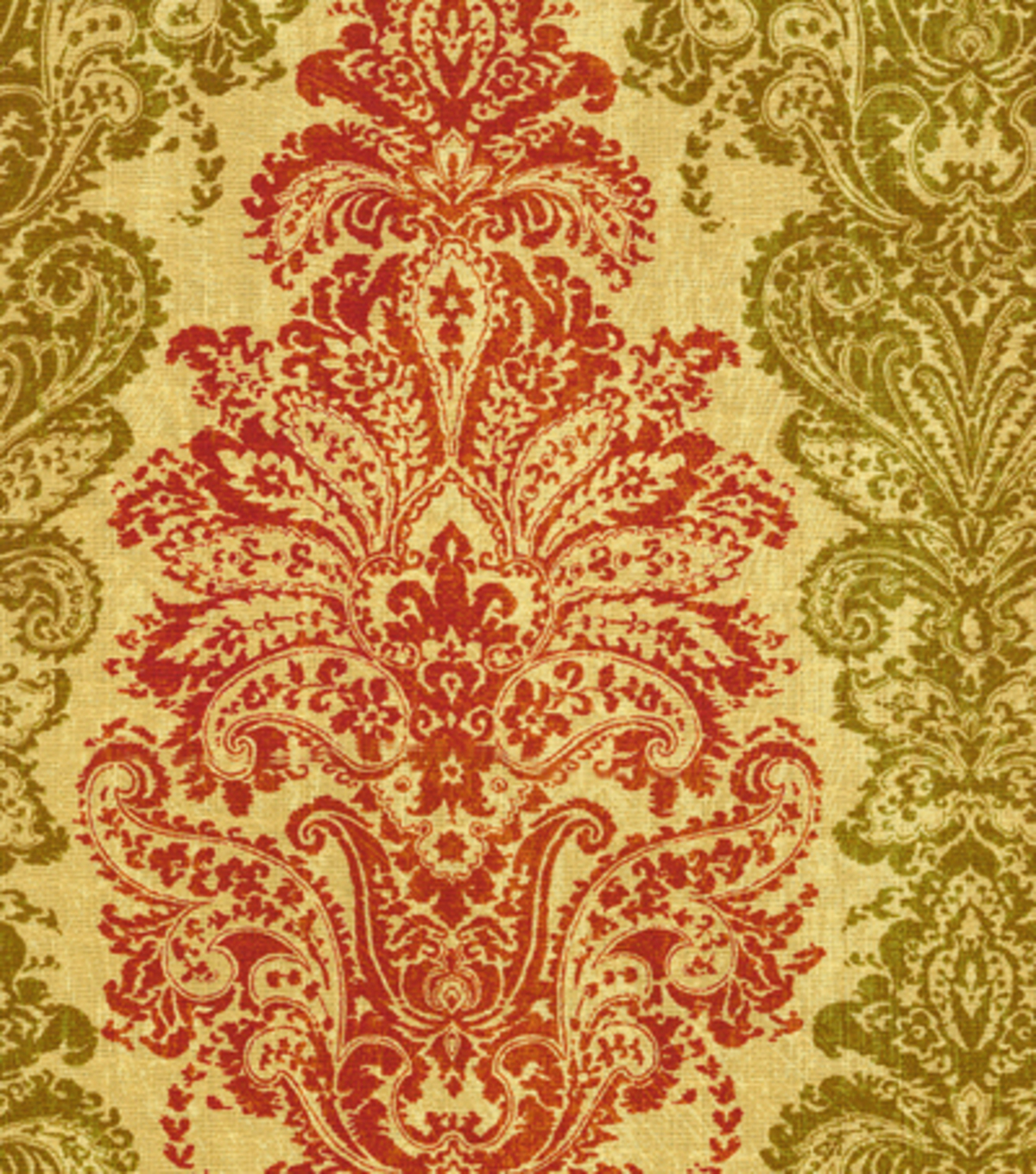 Waverly Print Fabric-Fresco Finale/Rosso