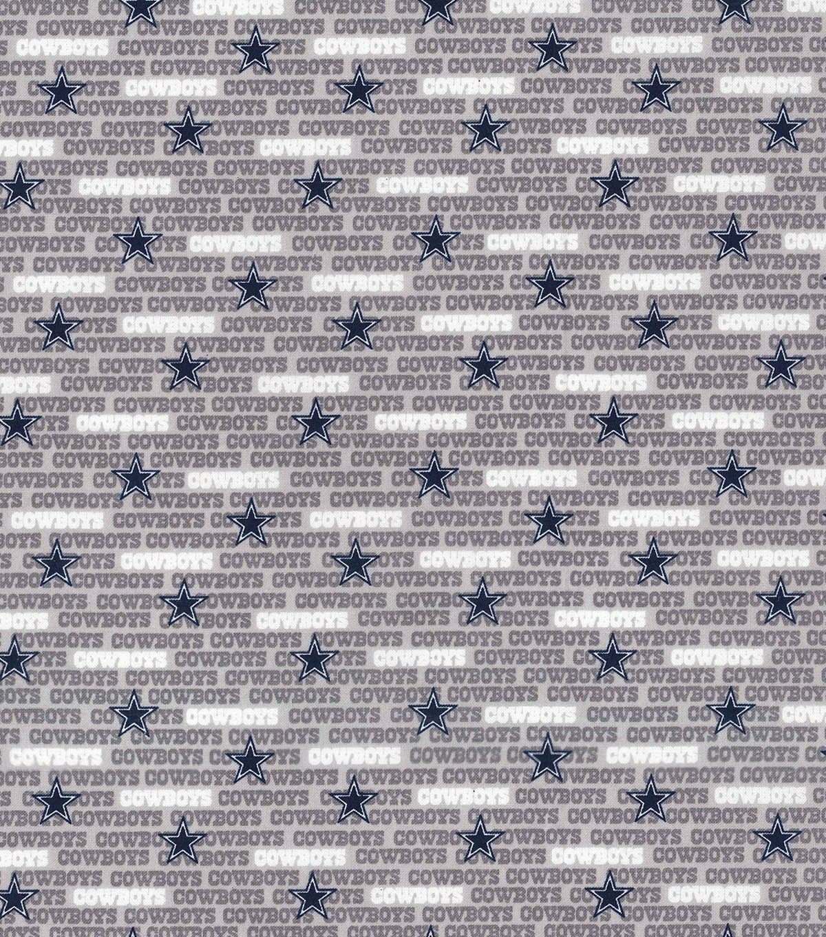 Dallas Cowboys Cotton Fabric 58\u0022-Mini Print