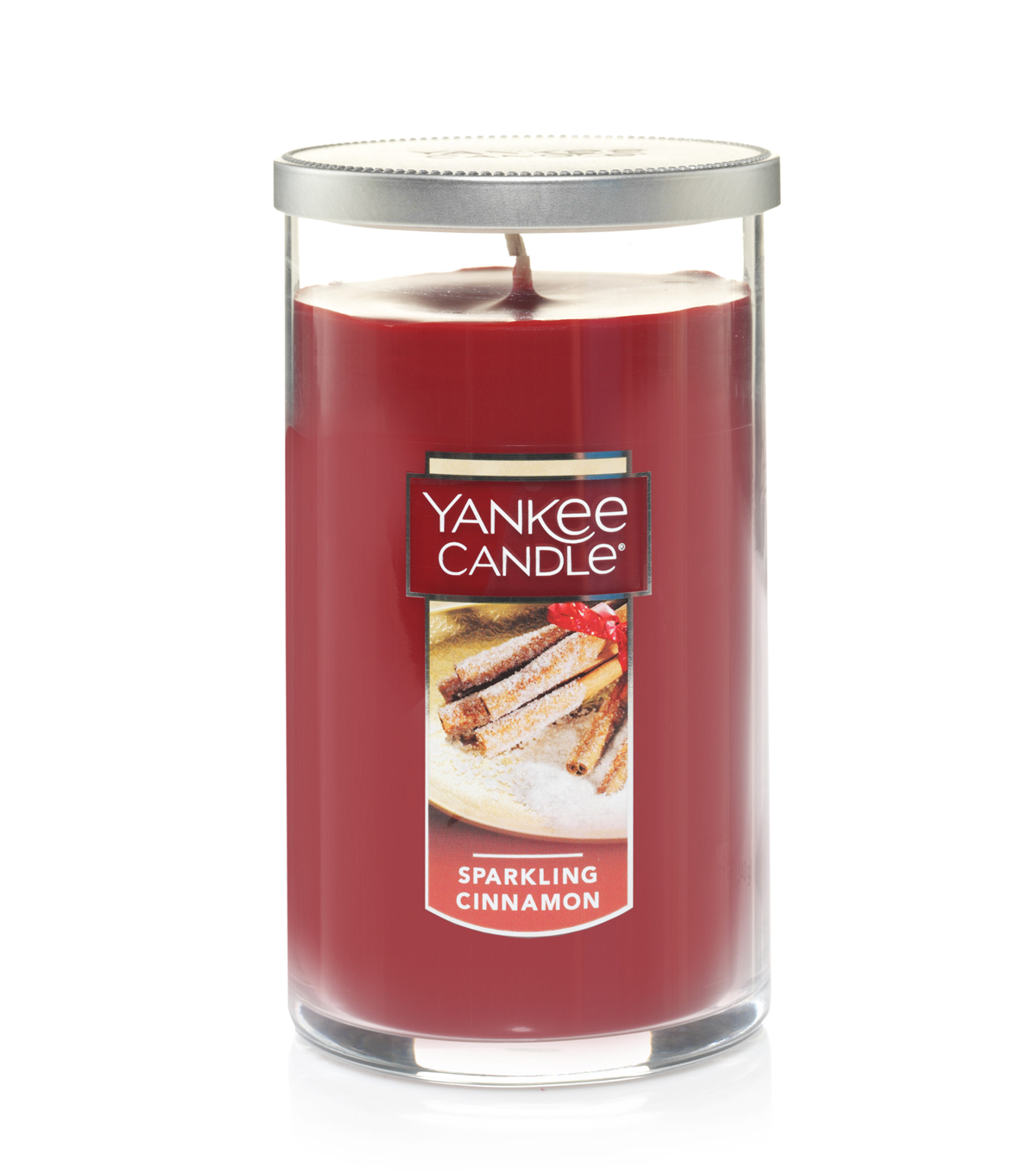 Yankee Candle Medium Perfect Sparkling Cinnamon Scented Pillar Candle