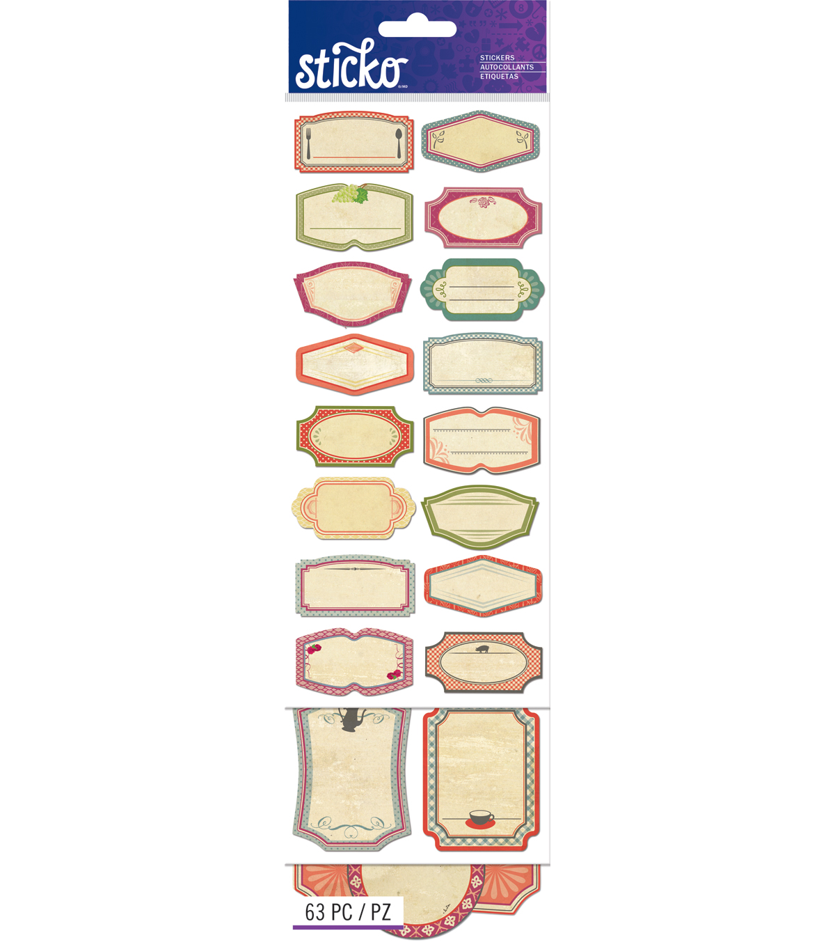 Sticko Organization Label Value Pack Vintage