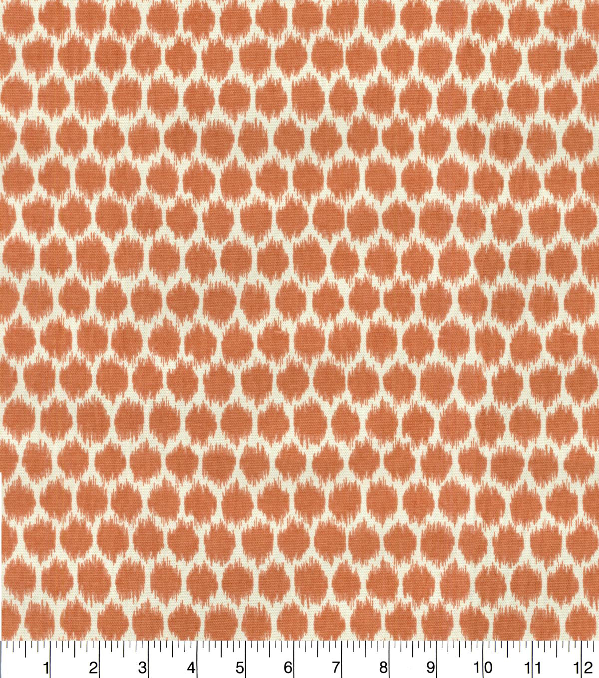 Waverly Upholstery Fabric 54''-Persimmon Seeing Spots