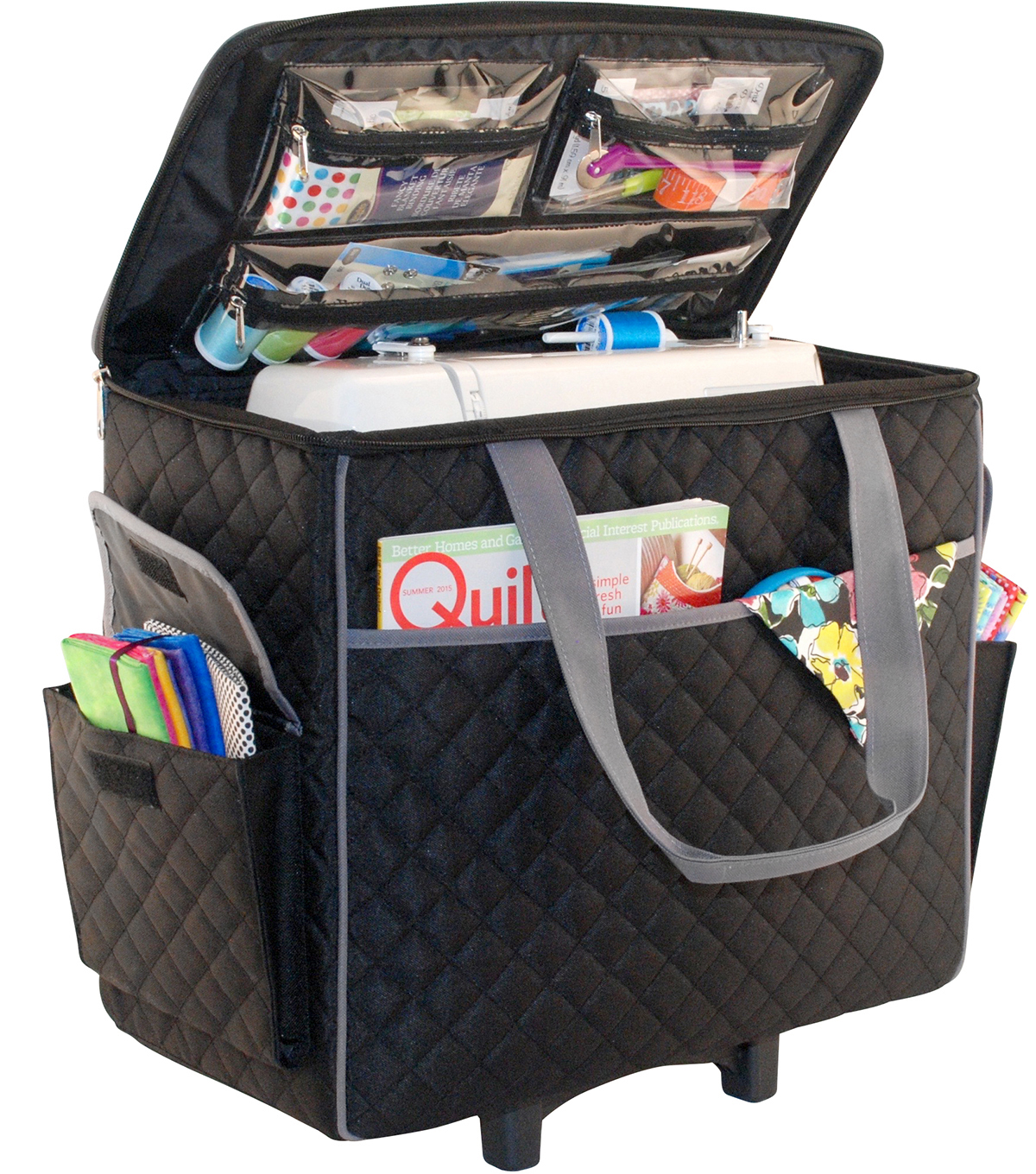 Canvas tote bags on wheels - Null Null