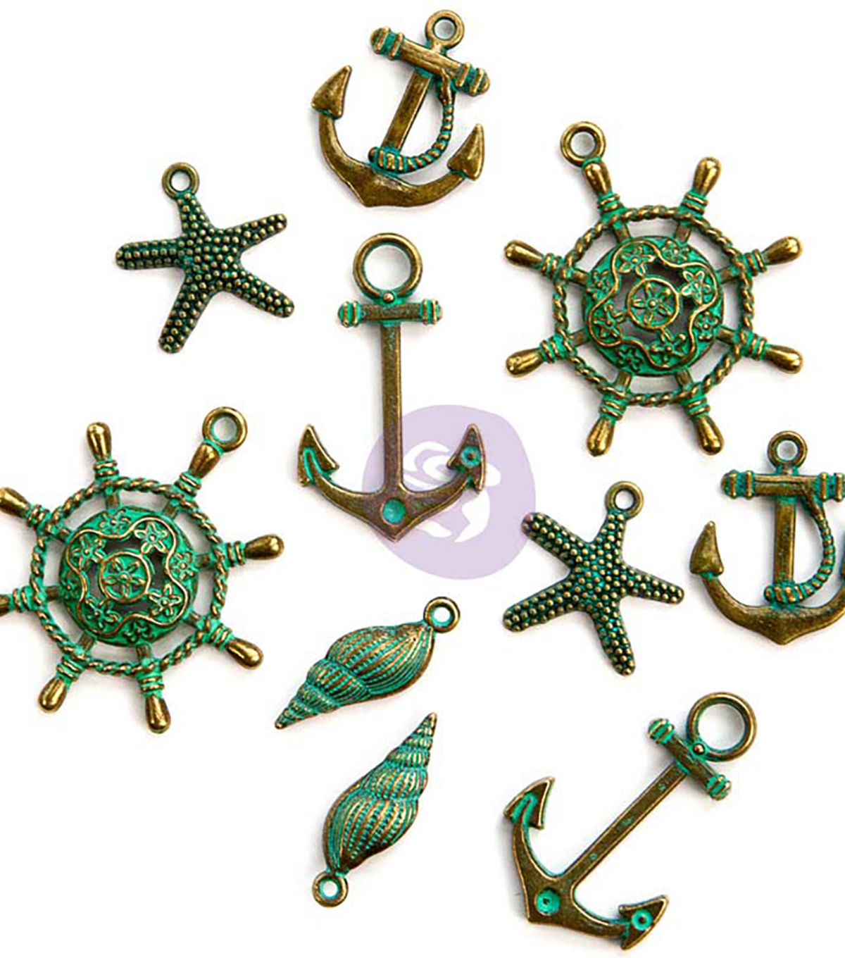 Prima Marketing 10 pk St. Tropez Metal Embellishments