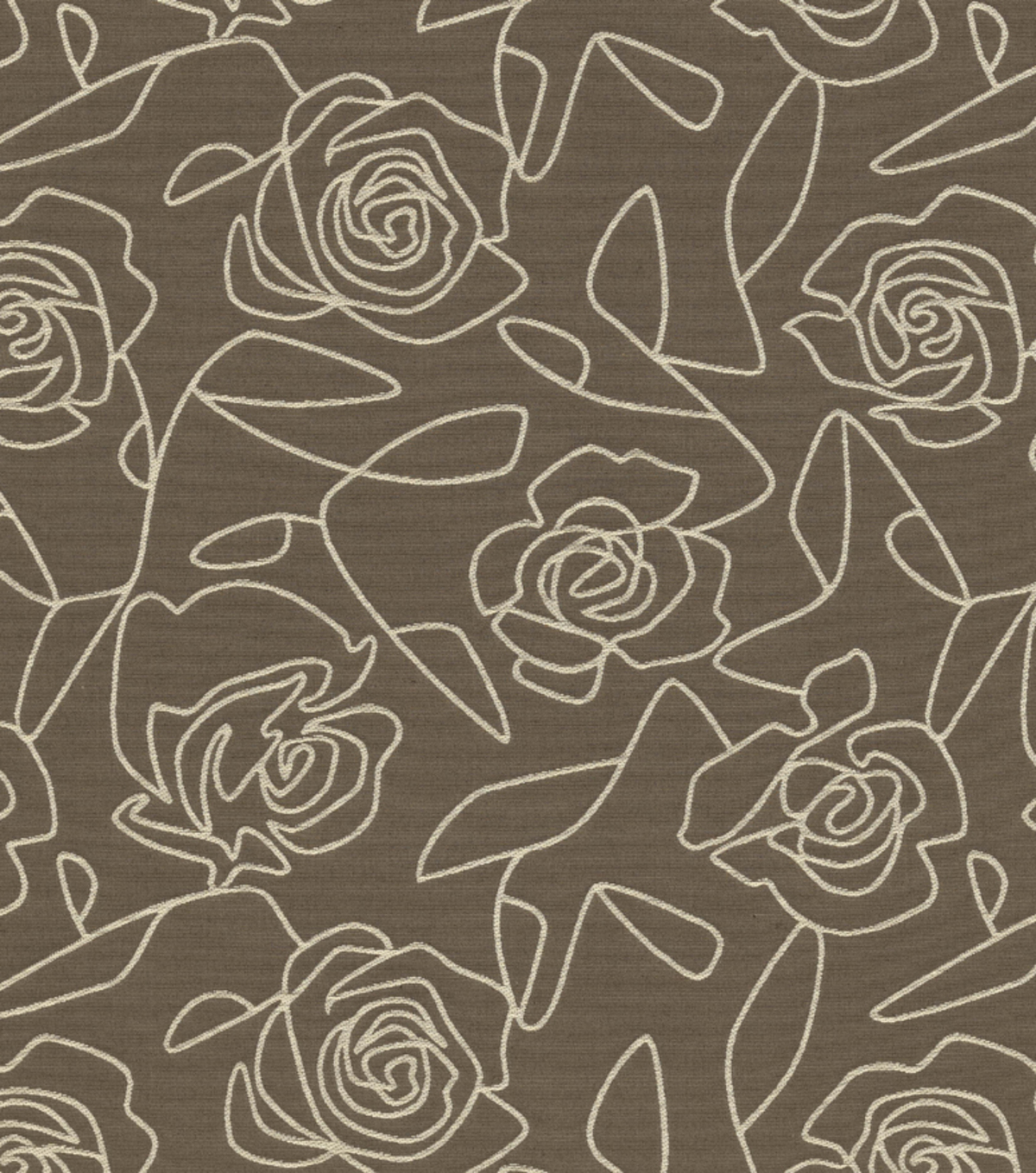 Home Decor 8\u0022x8\u0022 Fabric Swatch-Bed Of Roses Gray