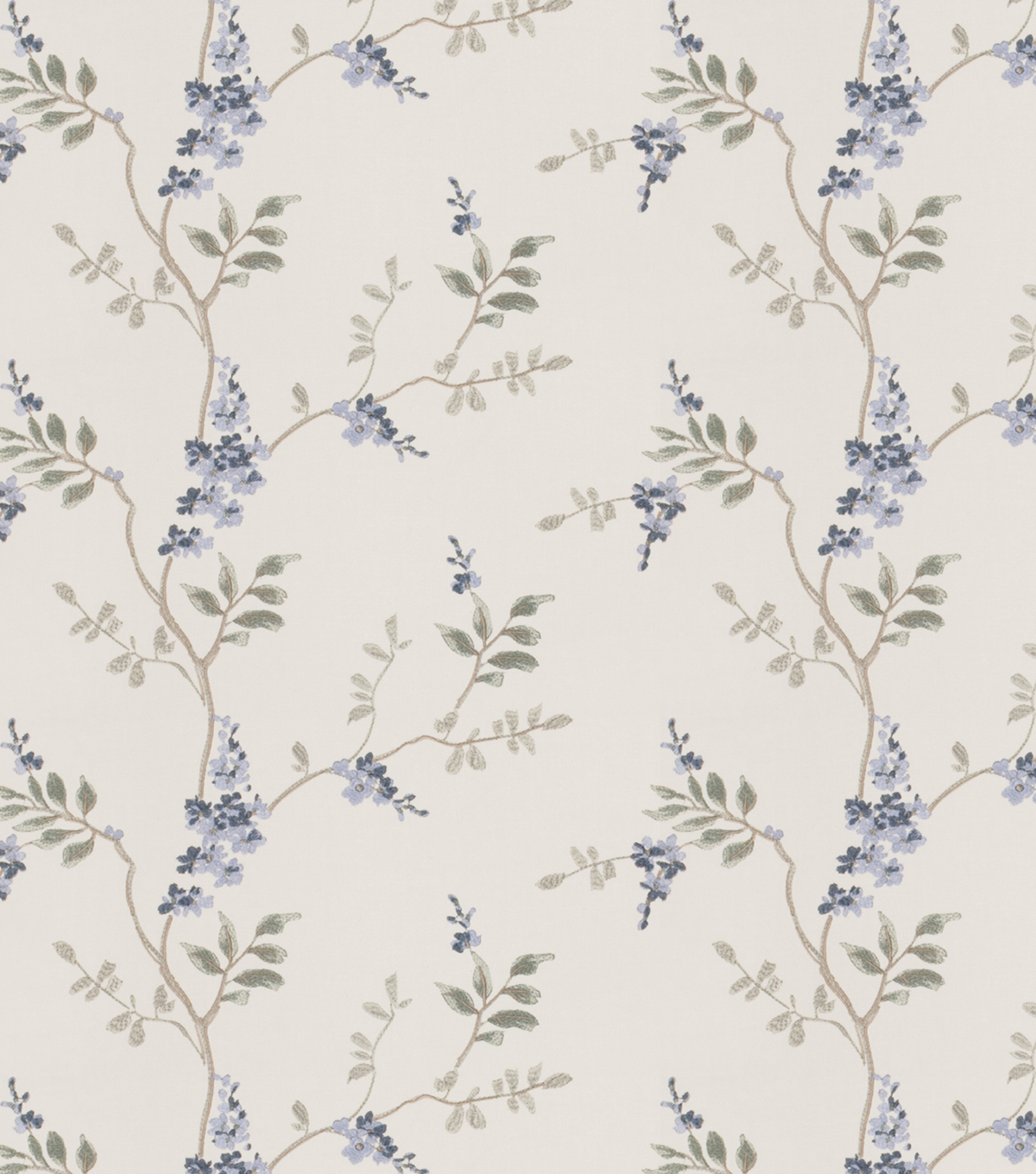 Eaton Square Print Fabric 51\u0022-Rosehips/Chambray