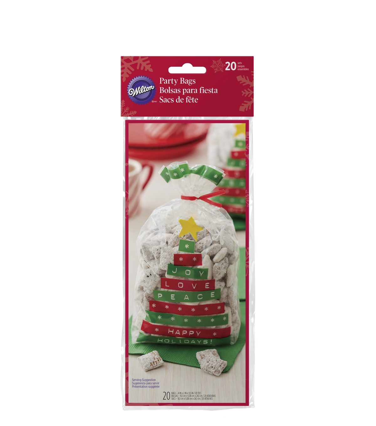 Wilton 30ct Happy Holidays Tree Party Bags