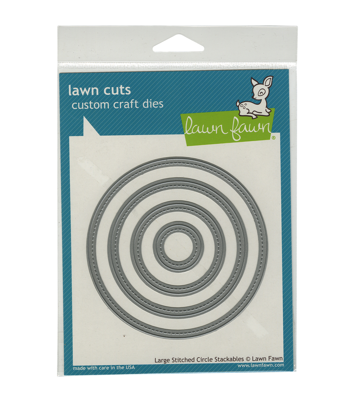 Lawn Fawn Lawn Cuts Custom Craft Die -Large Stitched Circle Stackables