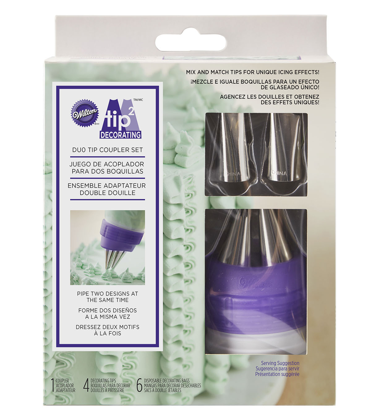 Wilton® Tip2 Decorating Duo Tip Coupler Set