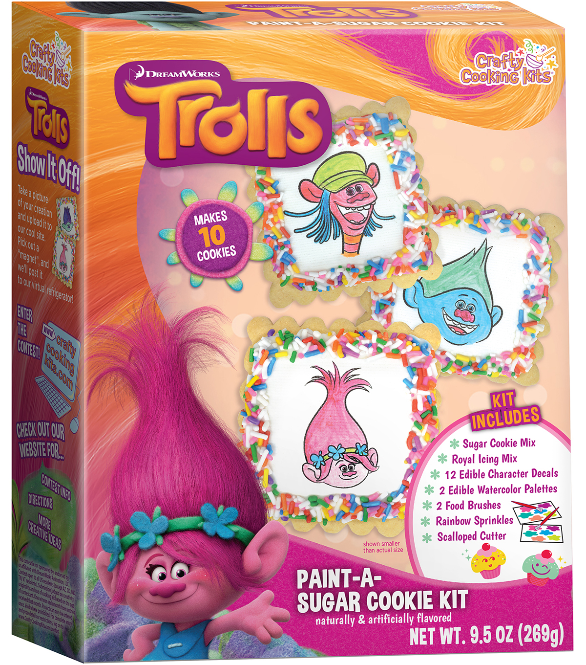 Dreamworks Trolls Paint-A-Sugar Cookie Kit